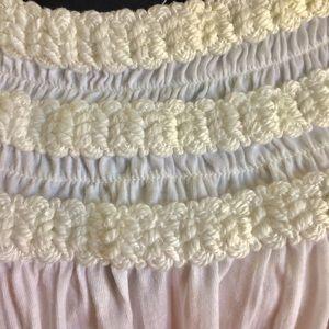 RXB Tops - RXB White Sleeveless Top Yarn Decoration Size XL